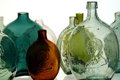 Antique bottles stock image