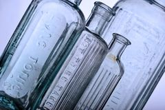 Antique bottles Royalty Free Stock Photos