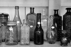 Antique bottles for sale, Washington Fairgrounds, Greenwich, New York, 2016 Stock Photos