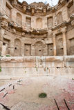 Antique bowl in ancient town Jerash Stock Photography