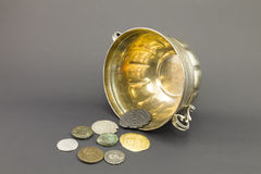 Antique bowl made of silver Royalty Free Stock Photos