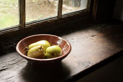 Antique Bowl Of Pears Stock Image