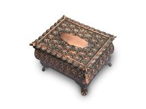 Antique Box. Closeup of small antique box Royalty Free Stock Image