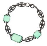 Antique bracelet with green stones Stock Photo