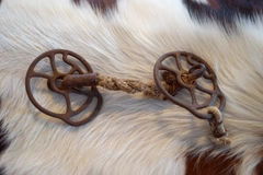 Antique braided horse bridle bit Stock Images