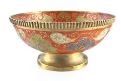 Antique brass bowl Royalty Free Stock Image