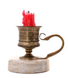 Antique brass candlestick Royalty Free Stock Photography