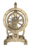 Antique brass clock 3d rendering. Antique brass clock isolated on white 3d rendering Royalty Free Stock Image