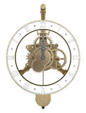 Antique brass clock 3d rendering. Antique brass clock isolated on white 3d rendering Stock Image