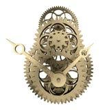 Antique brass clock mechanism 3d rendering. Antique brass clock mechanism isolated on white 3d rendering Stock Photo