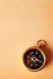 Antique brass compass Stock Image