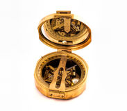 Antique Brass compass Stock Images