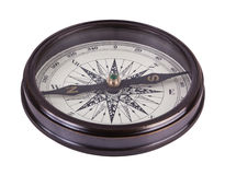 Antique brass compass Stock Photography