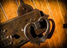 Antique brass door handle Stock Photography