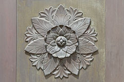 Antique Brass Floral water lily Door Ornament Sconce Royalty Free Stock Image