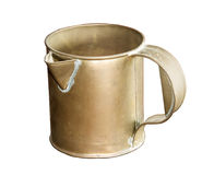 Antique Brass jug isolated on white Royalty Free Stock Photography