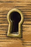 Antique Brass Keyhole Royalty Free Stock Images