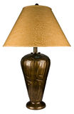 Antique Brass Table Lamp Stock Photography