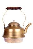 Antique brass tea-pot Stock Photos