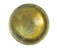Antique brass tray Stock Photos