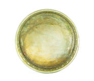 Antique brass tray Royalty Free Stock Photo