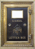 Antique Brass US Mail Letter Box Stock Images