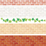 Antique brick. Set of antique brick walls Royalty Free Stock Image