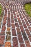 Antique Brick Walkway Stock Photo