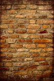 Antique Brick Wall with dark Frame Royalty Free Stock Images