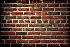 Antique Brick Wall on Old Historic Building Royalty Free Stock Images