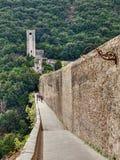 Antique bridge aqueduct in Sploleto, Italy Stock Photos
