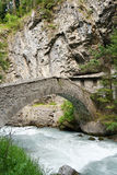 Antique bridge in Pre Saint Didier Royalty Free Stock Image