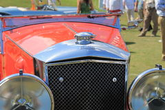 Antique british car front detail Royalty Free Stock Image