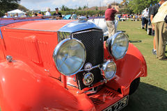 Antique british car front detail Royalty Free Stock Photography