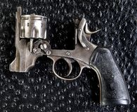 Antique British 455 Pistol. Royalty Free Stock Photography