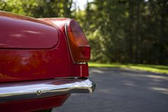 Antique British Sports Car Tail Light. Royalty Free Stock Photos