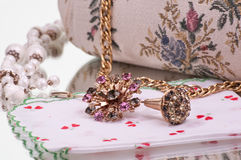 Antique broach and hat pin royalty free stock image