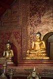 Antique bronze buddha in Chiangmai Royalty Free Stock Image