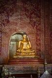 Antique bronze buddha in Chiangmai Stock Images