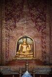 Antique bronze buddha in Chiangmai Royalty Free Stock Photos