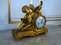 Antique bronze clock. Stock Photo