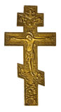 Antique bronze cross with crucified Christ Royalty Free Stock Photography