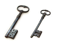 Antique bronze key Royalty Free Stock Photos