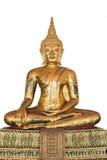 Antique bronze sitting Buddha Royalty Free Stock Photo