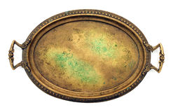 Antique bronze tray Royalty Free Stock Images