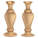 Antique bronze vase 3D Vintage High floor vase with golden ornaments 3d rendering stock illustration