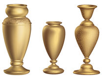 Antique bronze vase 3D Vintage High floor vase with golden ornaments 3d rendering royalty free illustration