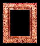 antique brown frame isolated on black background, clipping path Royalty Free Stock Photos