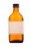 Antique brown prescription bottle. An antique brown prescription bottle with copy space on a white background Stock Photography