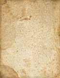 Antique Brown Spotted Paper Stock Photo